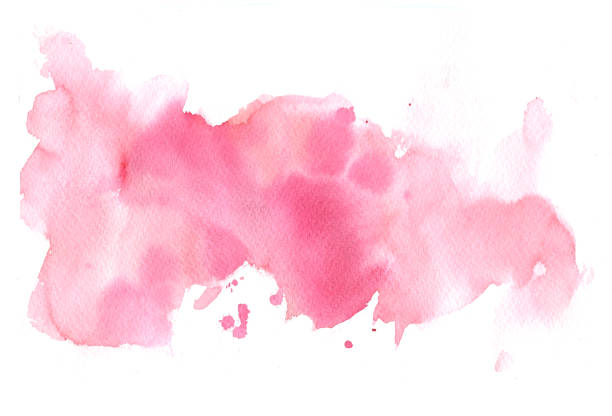 pink watercolor background - watercolor painting stock pictures, royalty-free photos & images