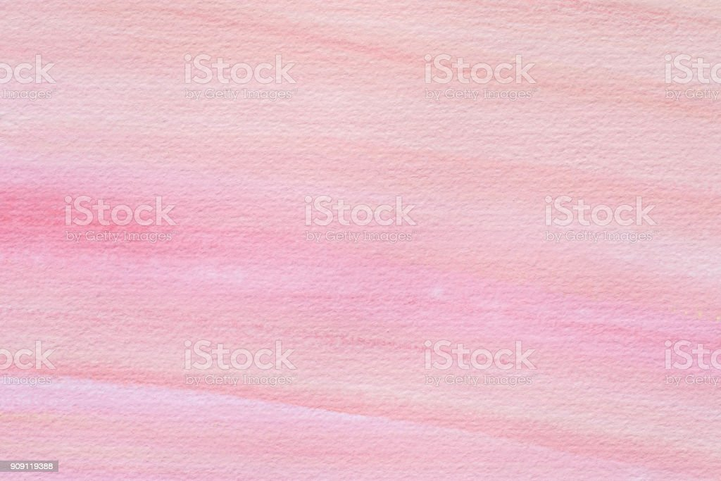 pink watercolor painted on paper background texture stock photo