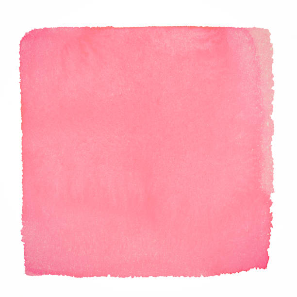 pink watercolor square background on a white paper - square composition stock pictures, royalty-free photos & images