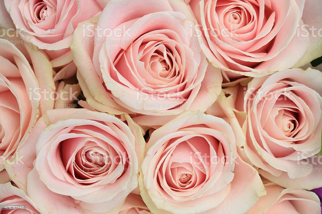 pink wedding arrangement stock photo
