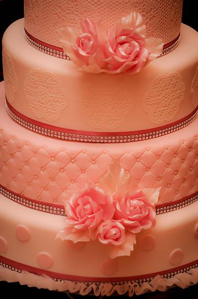 Pink Hochzeitstorte – Foto