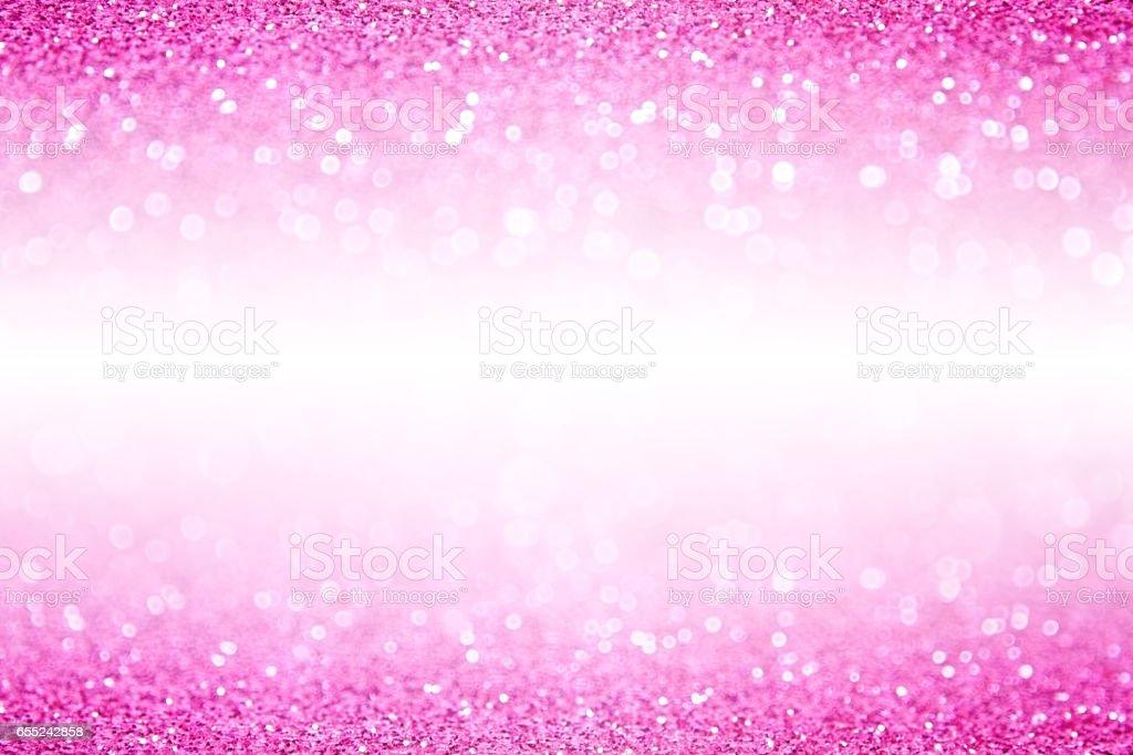 Pink White Glitter Sparkle Background stock photo