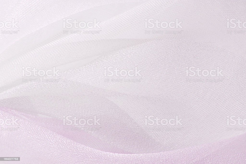 pink white organza fabric texture stock photo