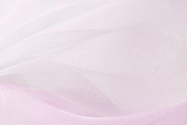 tekstura tkanina biała organza różowy - tiul tkanina zdjęcia i obrazy z banku zdjęć
