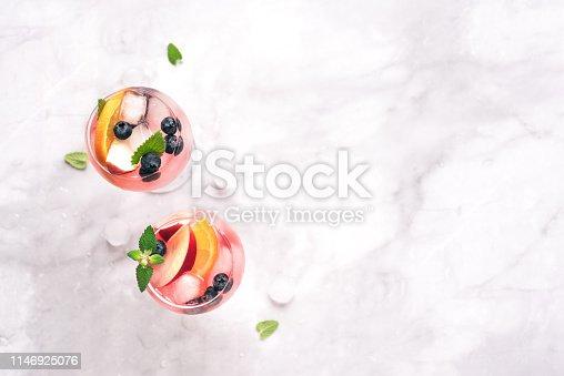 istock Pink Wine Sangria 1146925076