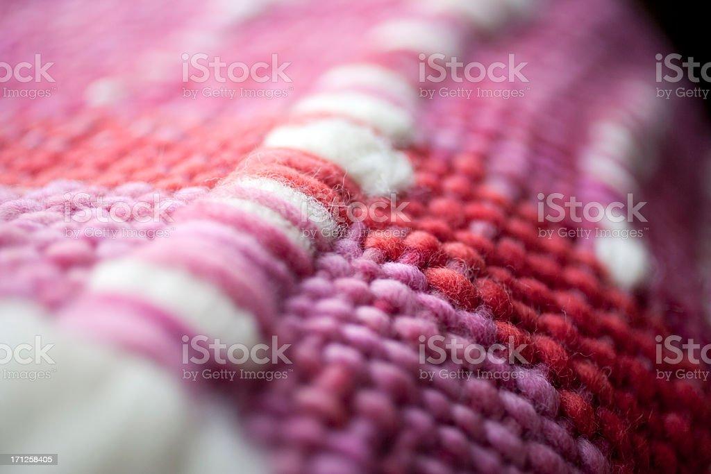 Pink wool hand net stock photo