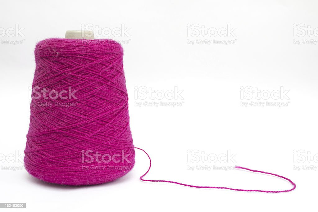 Pink wool royalty-free stock photo