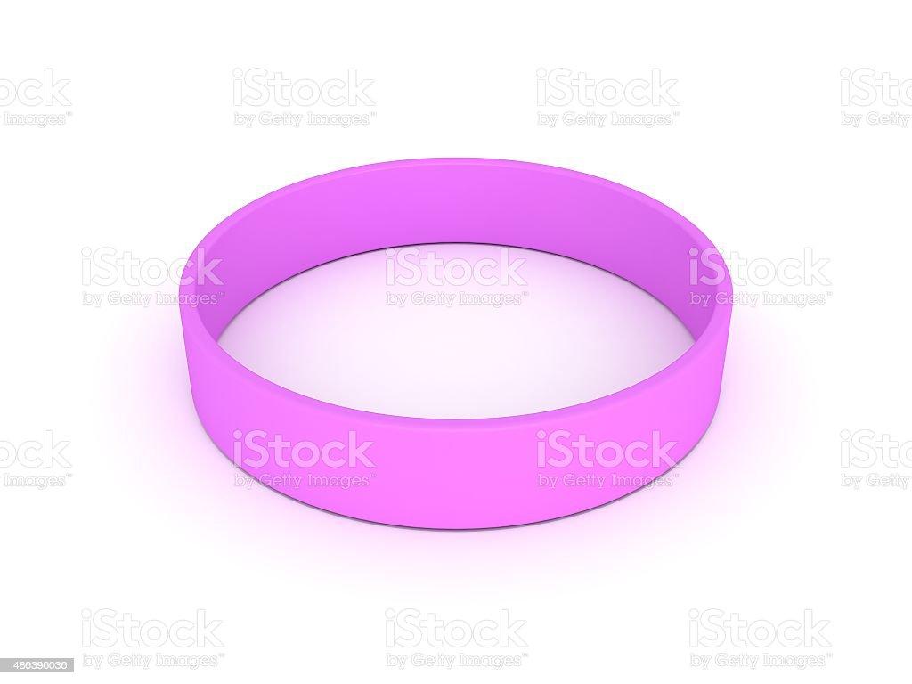 pink wristband stock photo