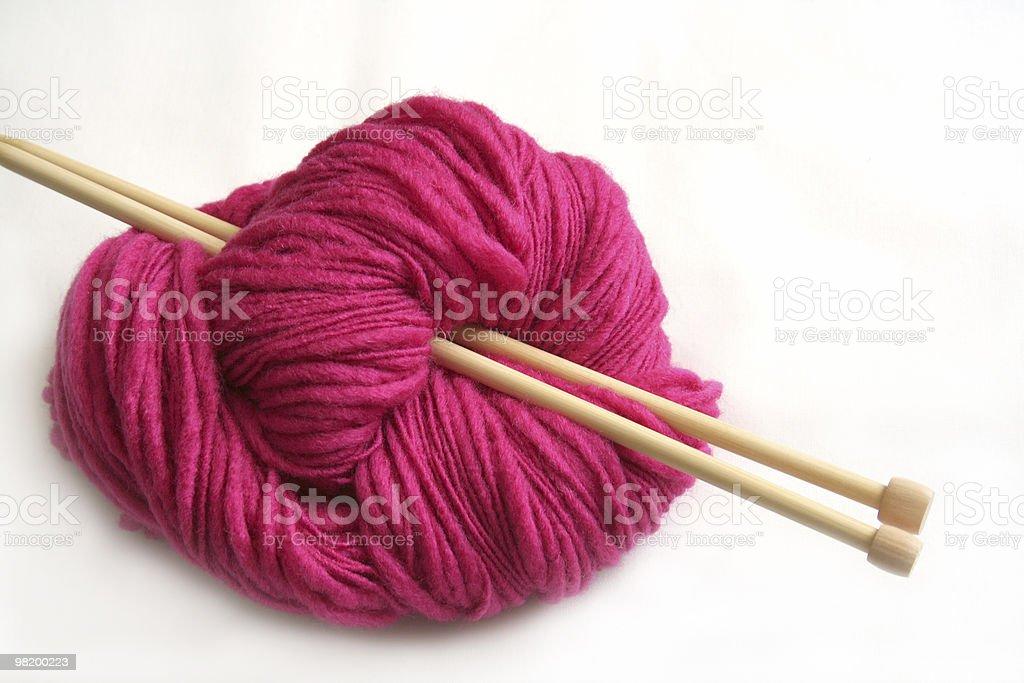 Filato rosa foto stock royalty-free