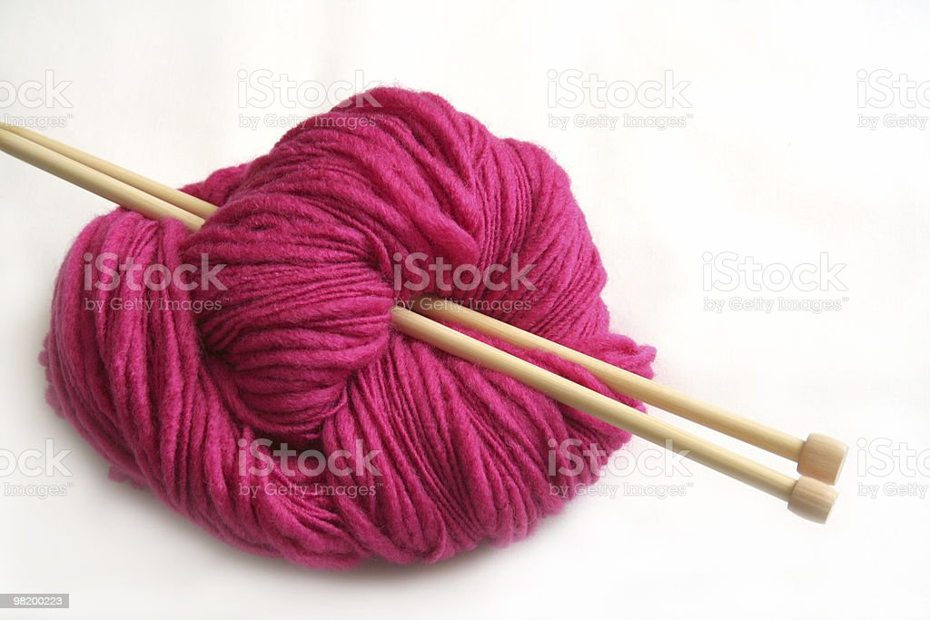 pink yarn royalty-free stock photo