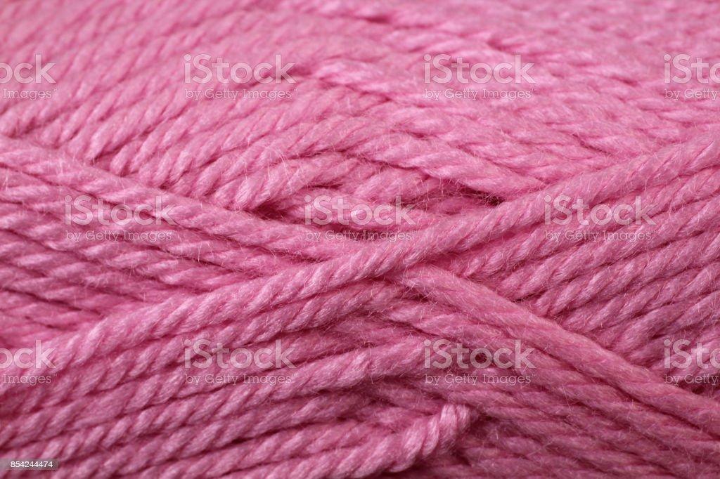 Pink Yarn Texture Close Up stock photo