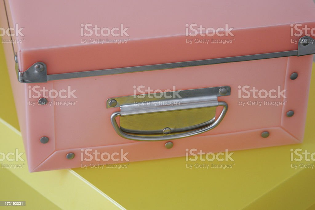 Pink yellow boxes royalty-free stock photo