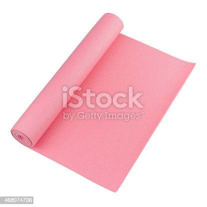 A pink yoga mat for your exercise