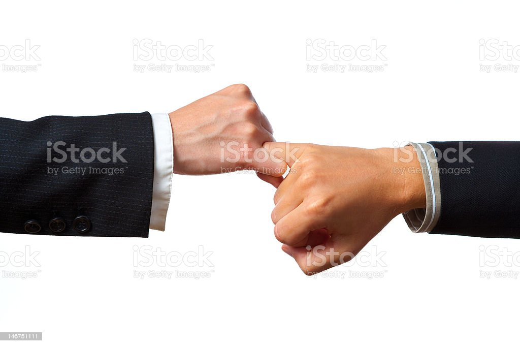 Pinkie Tug of War stock photo