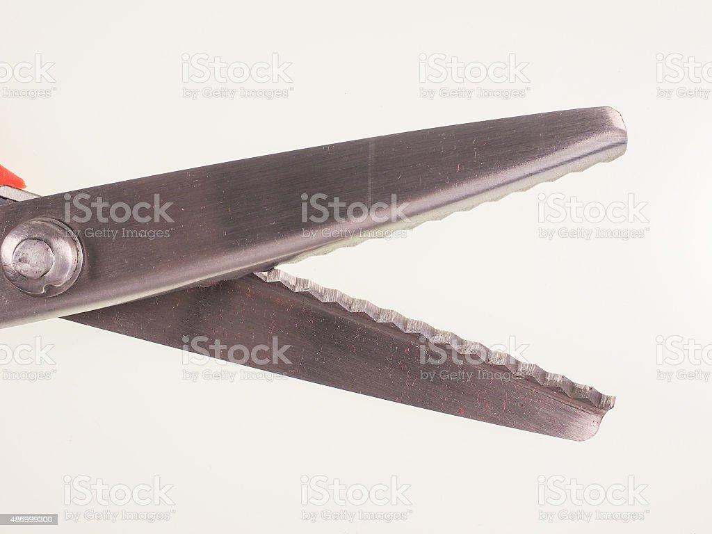 Pinking shears stock photo