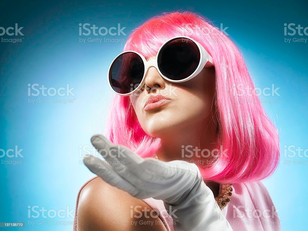 PinkKiss royalty-free stock photo