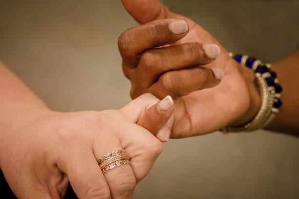 pinky love - pinky promise stock photos and pictures