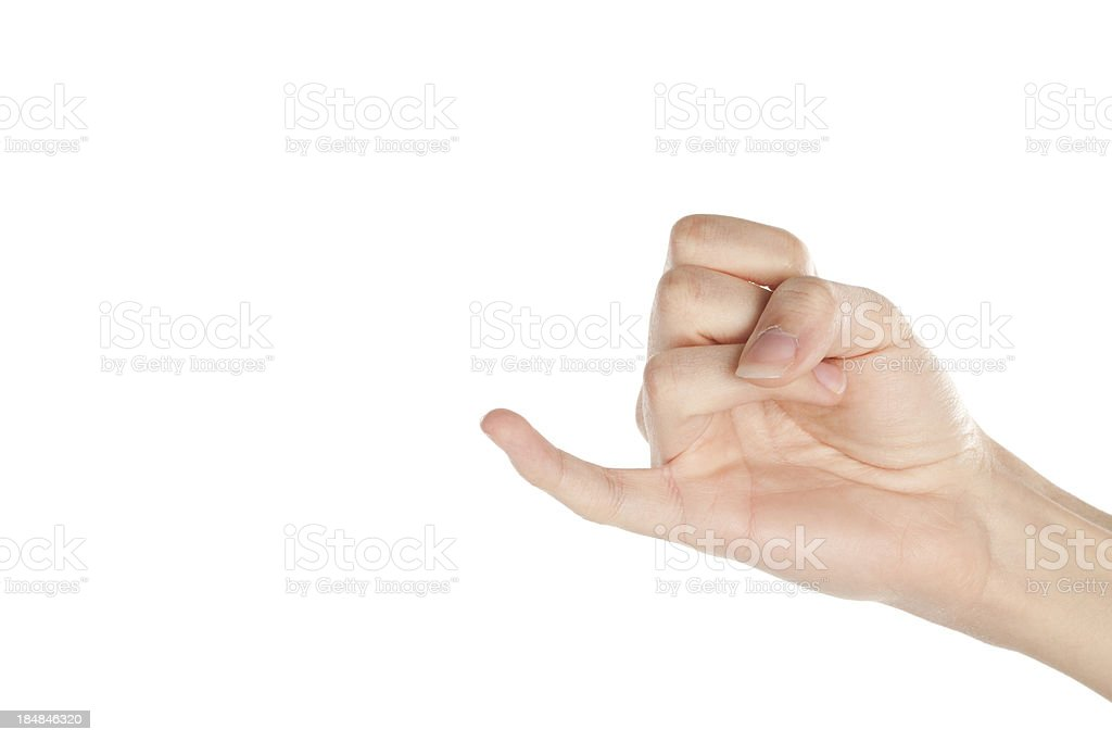 Pinky stock photo
