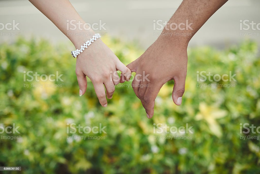 Pinky promise stock photo