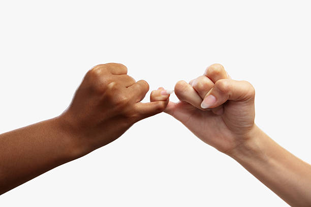 pinky swear - pinky promise stock photos and pictures