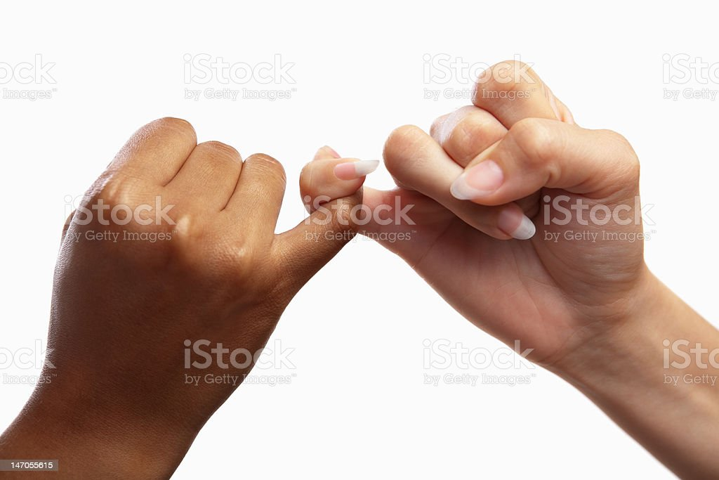 Pinky swear stock photo