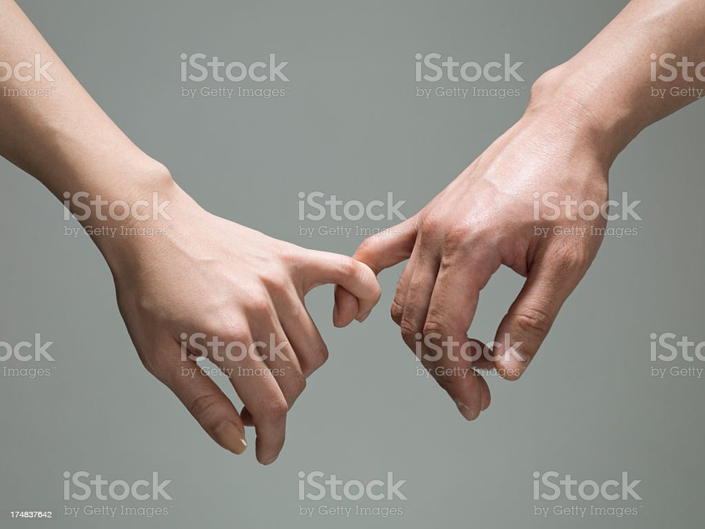 Pinky tied. stock photo