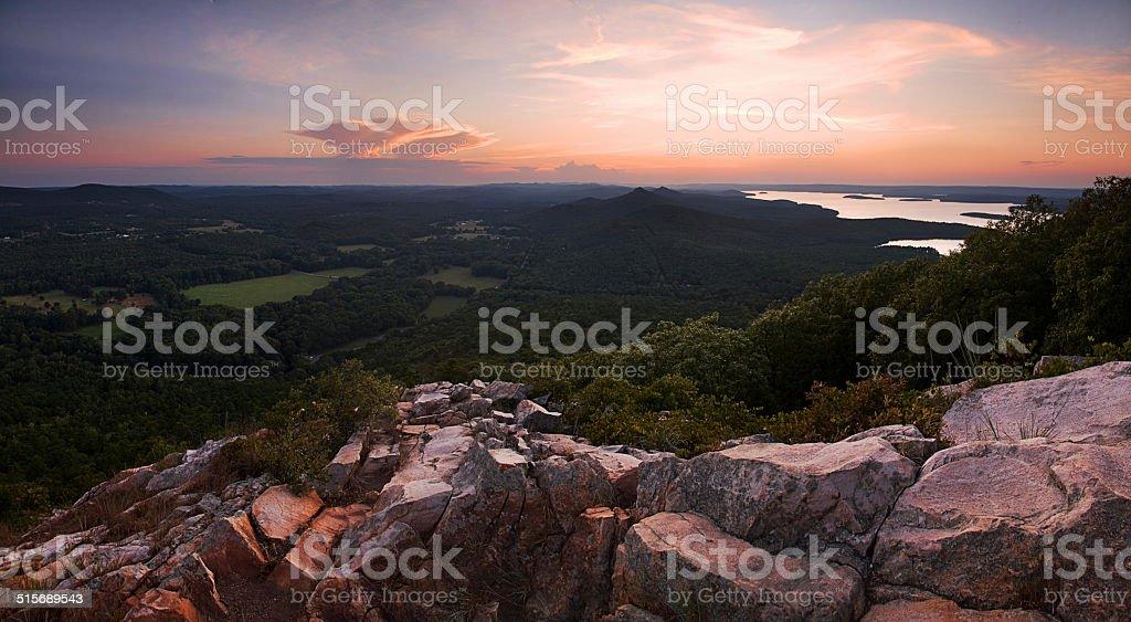 Pinnacle Mountain Vista stock photo