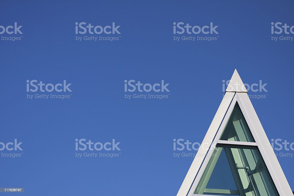Pinnacle structure with clear blue sky background royalty-free stock photo