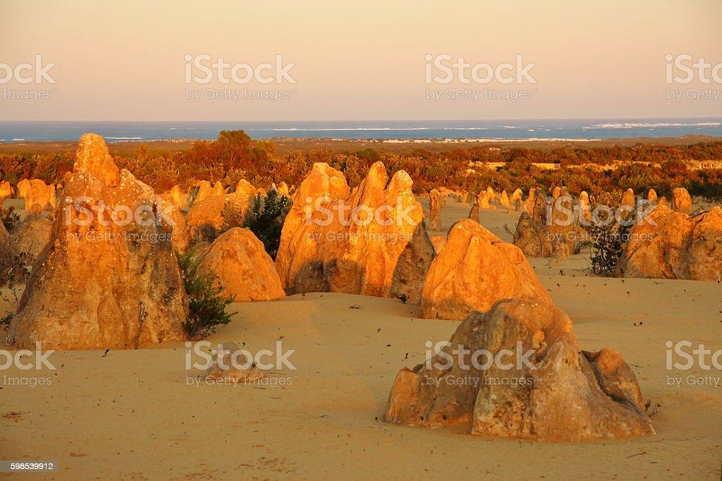 Pinnacles Desert en Australie photo libre de droits