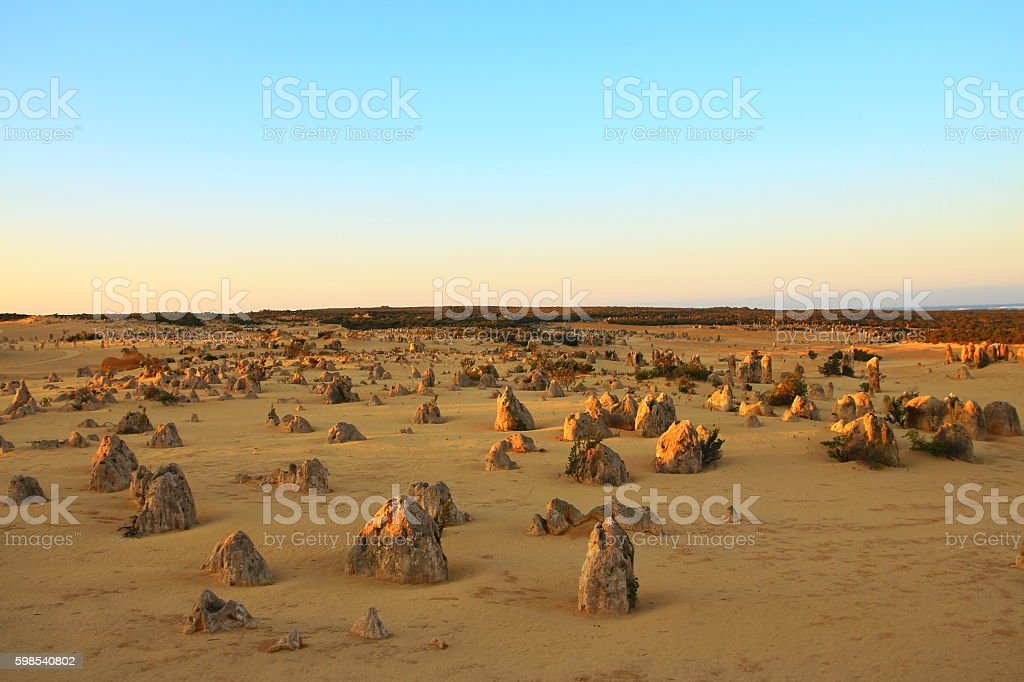 Pinnacles Desert en Australie photo libre de droits