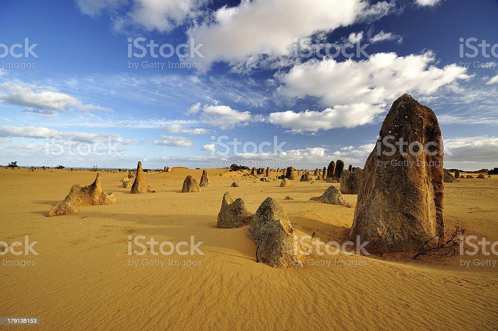 Pinnacles desert on a sunny day, Western Australia stock photo