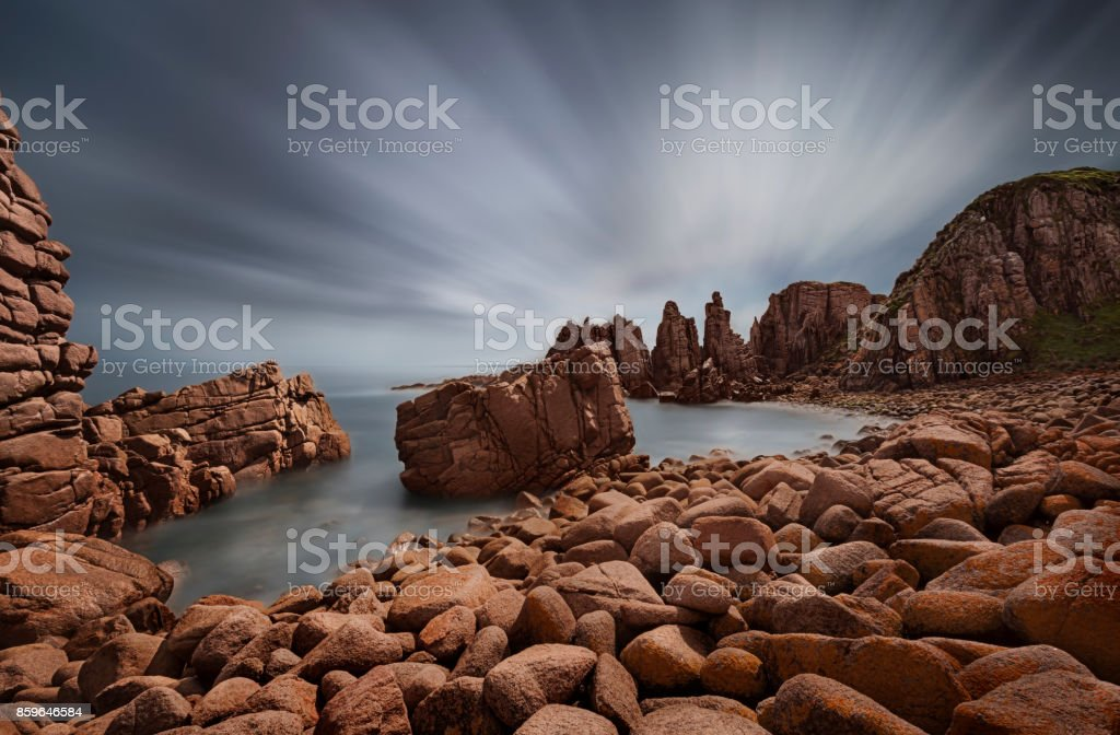 pinnacles, Phillip Island stock photo