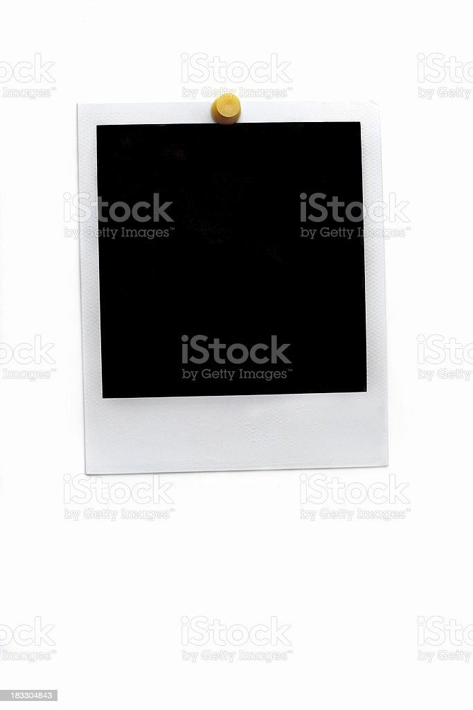 Pinned picture royalty-free stock photo