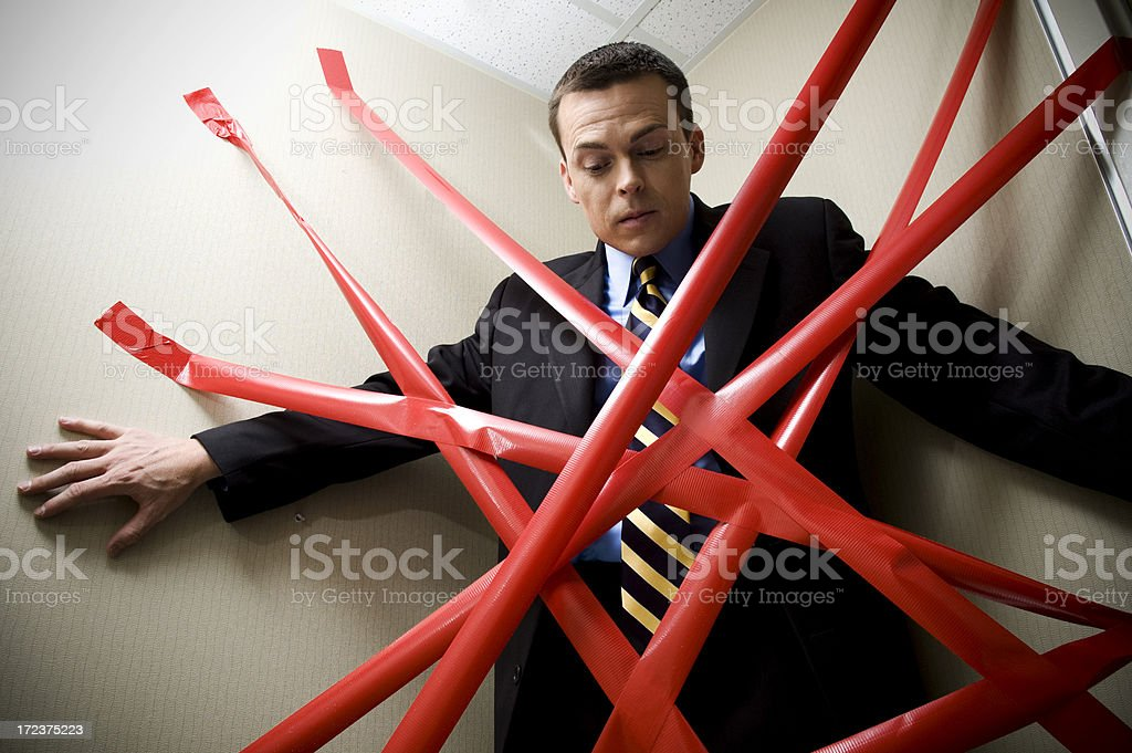 pinned to a corner stock photo