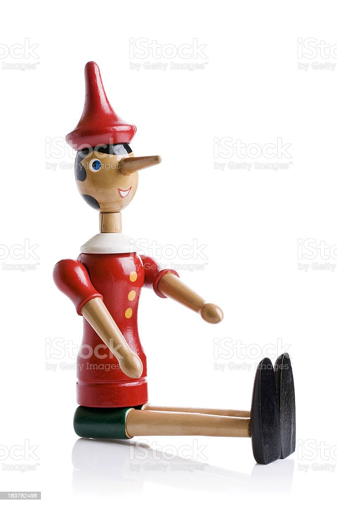 Pinocchio (Clipping Path) stock photo