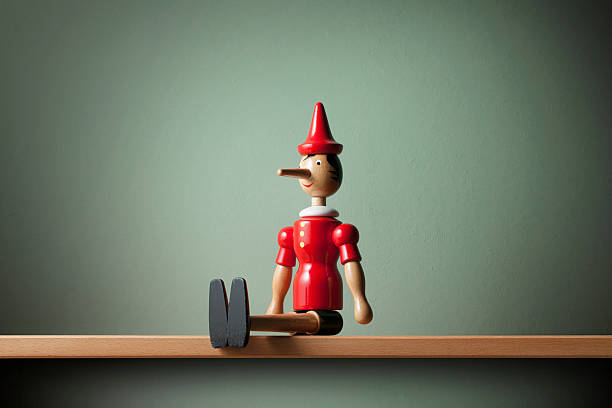 Pinocchio Pinocchio on the shelf. dishonesty stock pictures, royalty-free photos & images