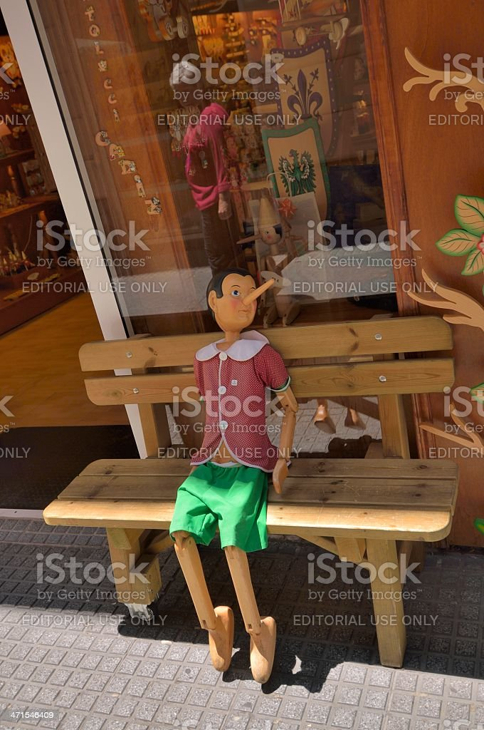 Pinocchio Puppet In Cadiz stock photo