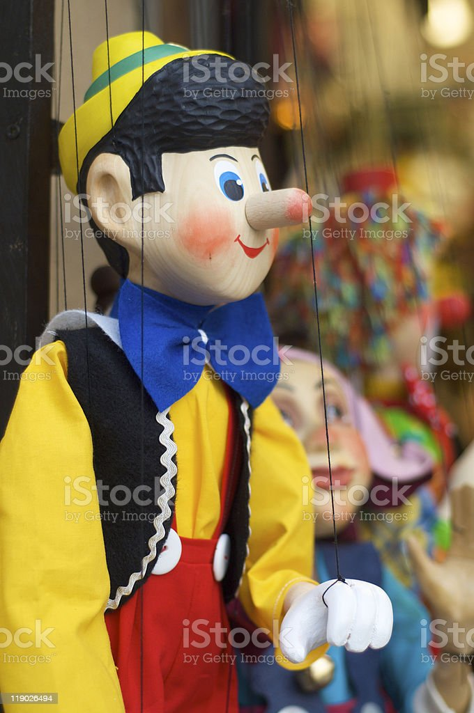 pinocchio marionette royalty-free stock photo