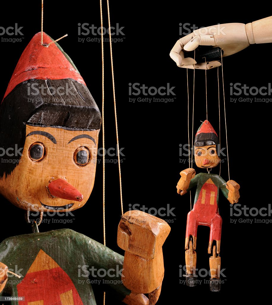 Marionette Pinocchio royalty-free stock photo