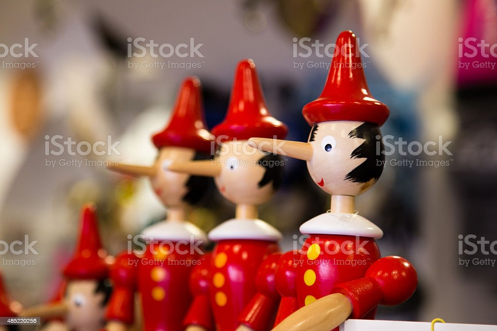 pinocchio superliar stock photo