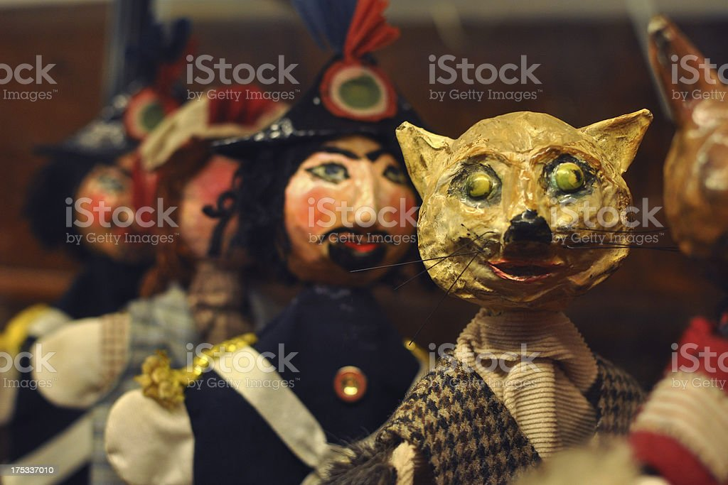 Pinocchio's puppets royalty-free stock photo