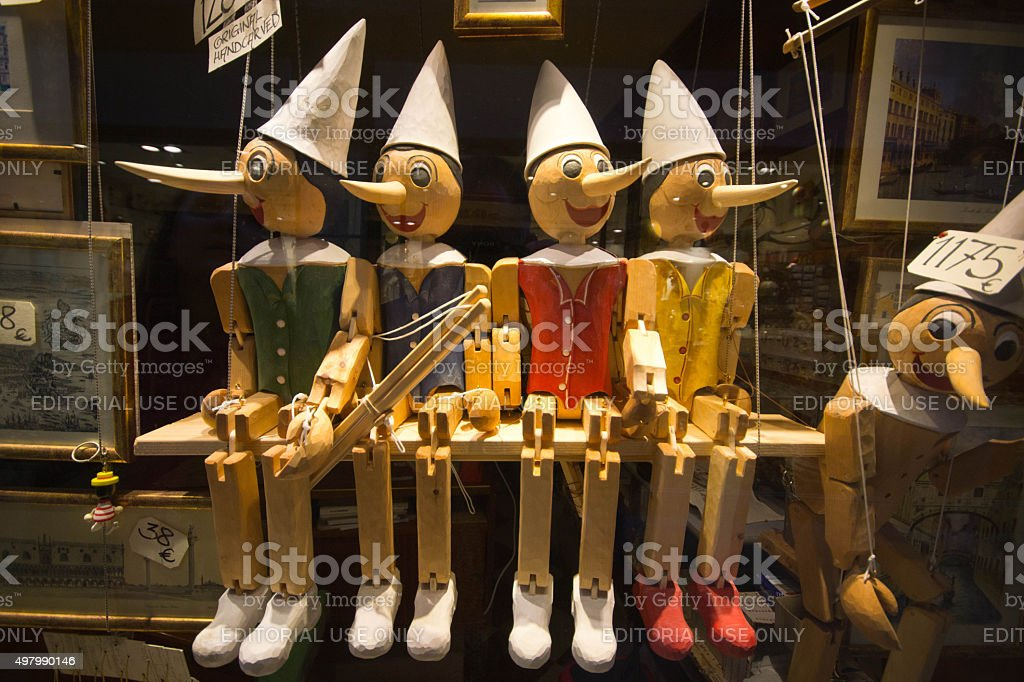 Pinochio Marionettes stock photo