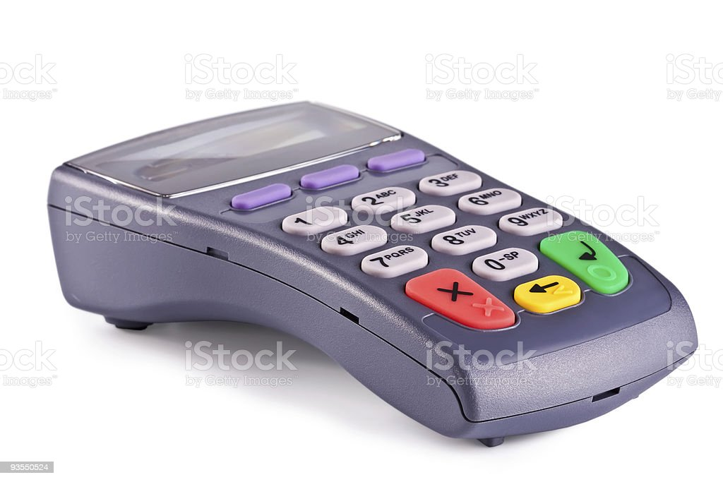 Client Can Download Photos After Payment: Pinpad Keyboard For Client Electronic Payment Stock Photo
