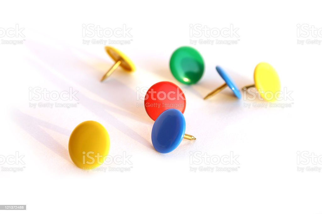 Pins scattered around royalty-free stock photo