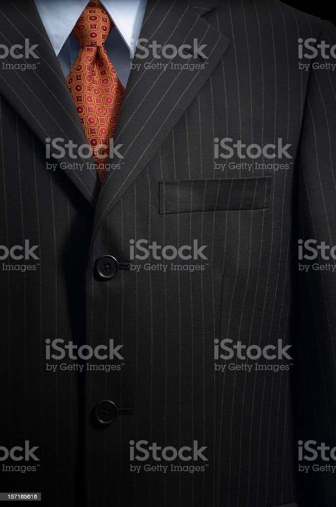 Pinstripe suit stock photo