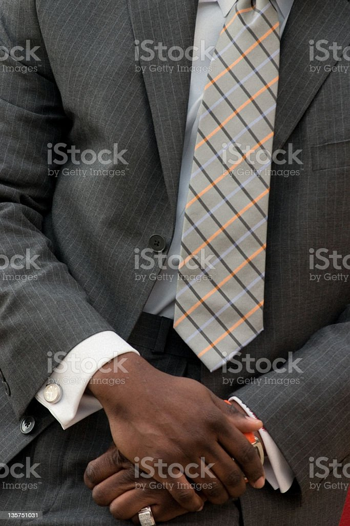 Pinstripe Suit with Tie stock photo