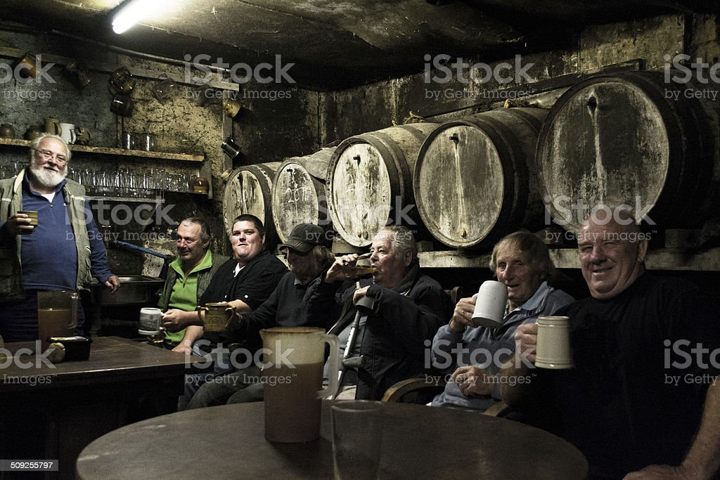 Pint and a laugh stock photo
