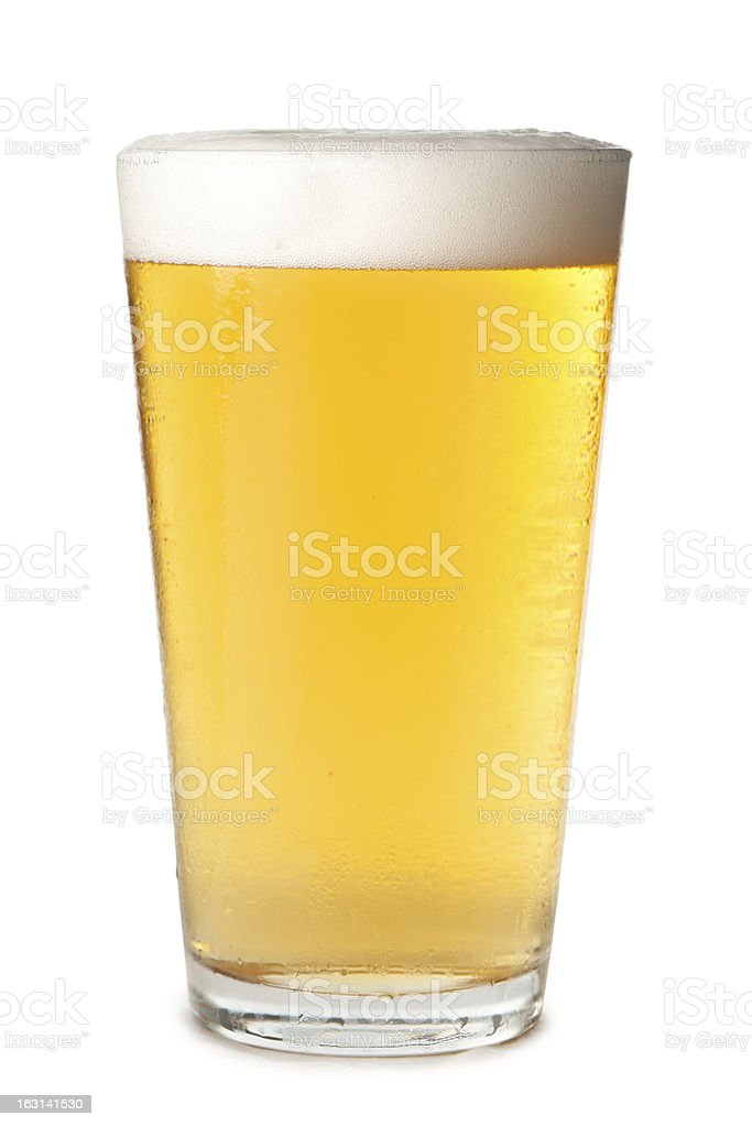 Pint Beer Glass Isolated on White Background​​​ foto