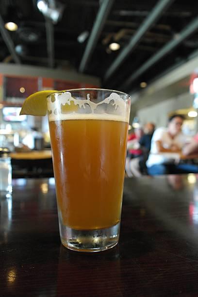 Pint  beer in Jasper stock photo