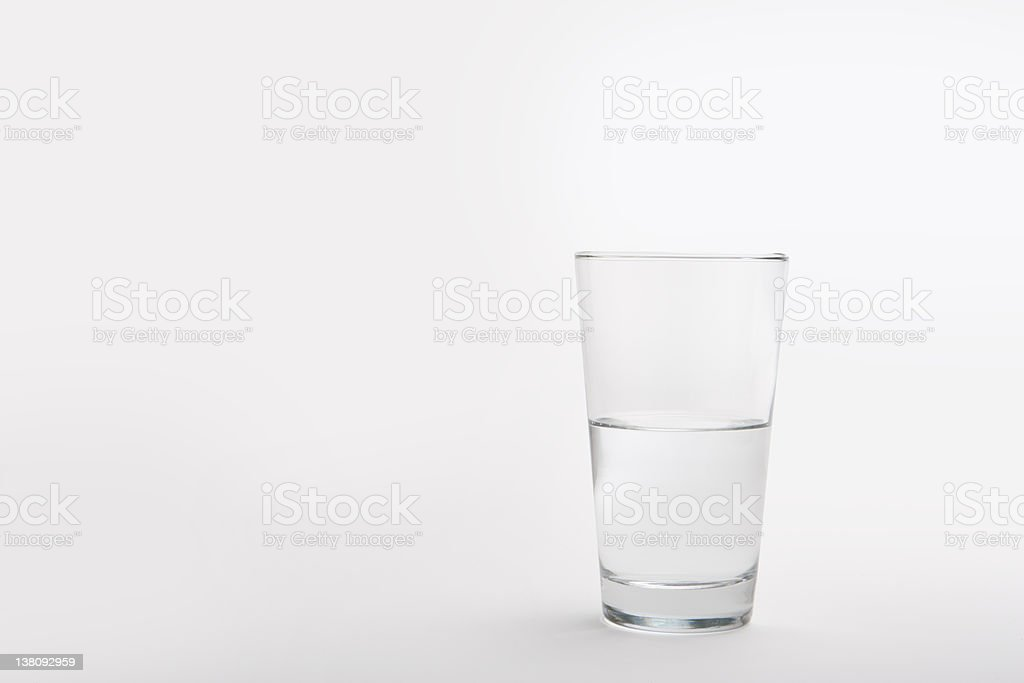 Pint Glass Half Full stock photo